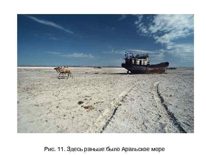 Рис. 11. Здесь раньше было Аральское море