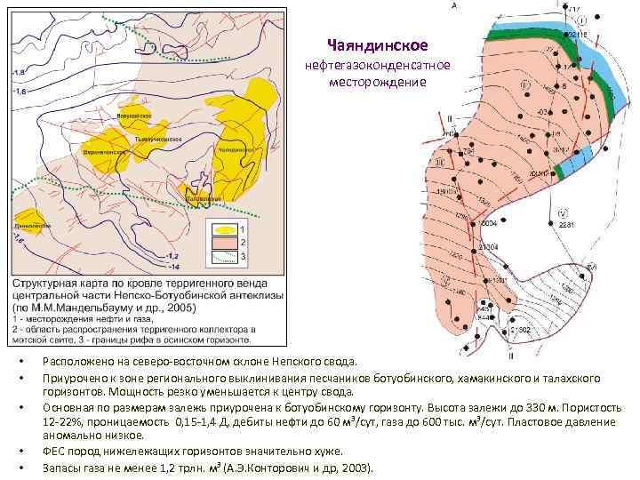 Чаяндинское нефтегазоконденсатное месторождение • • • Расположено на северо-восточном склоне Непского свода. Приурочено к