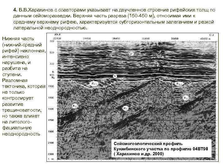 4. В. В. Харахинов с соавторами указывает на двучленное строение рифейских толщ по данным