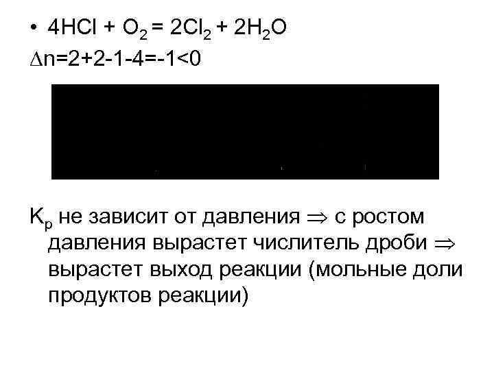 • 4 HCl + O 2 = 2 Cl 2 + 2 H