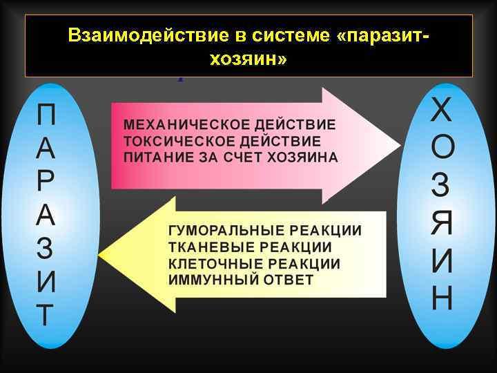 Взаимодействие в системе «паразитхозяин»