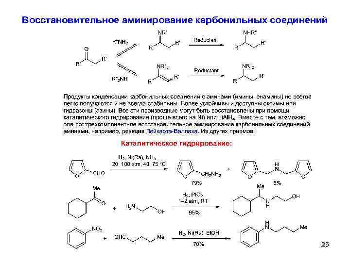 Восстановительное аминирование карбонильных соединений 25