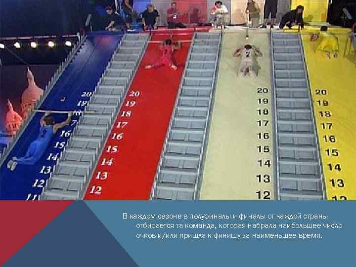 В каждом сезоне в полуфиналы и финалы от каждой страны отбирается та команда, которая