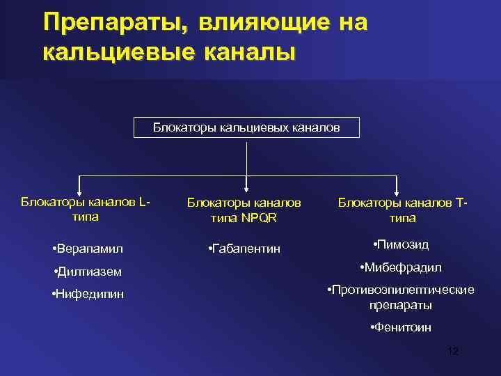 Антагонисты кальция (блокаторы кальциевых каналов)