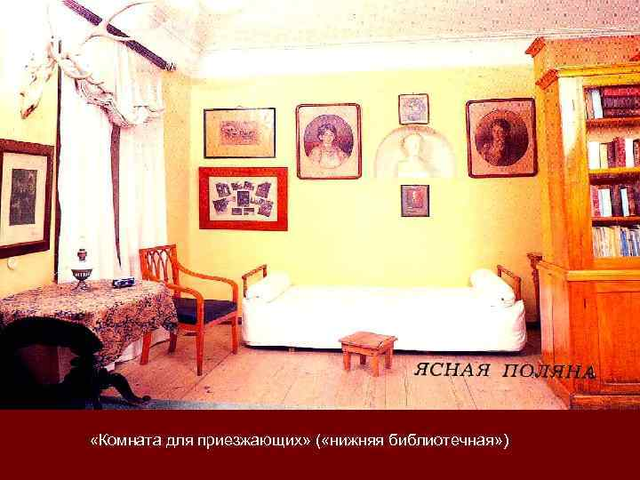 «Комната для приезжающих» ( «нижняя библиотечная» )