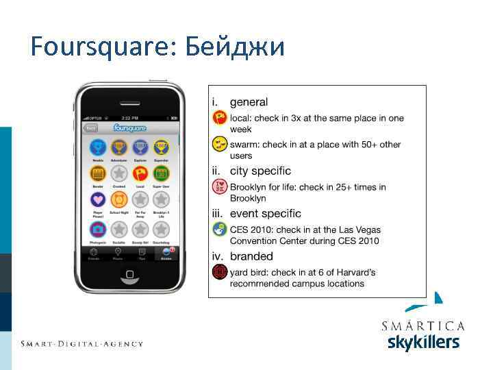 Foursquare: Бейджи