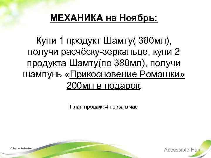 МЕХАНИКА на Ноябрь: Купи 1 продукт Шамту( 380 мл), получи расчёску-зеркальце, купи 2 продукта
