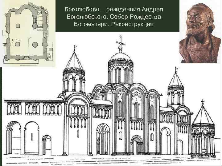 Боголюбово – резиденция Андрея Боголюбского. Собор Рождества Богоматери. Реконструкция