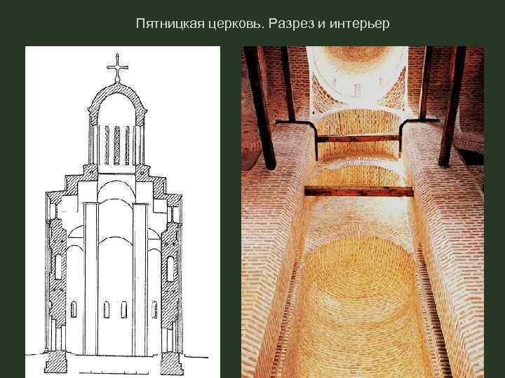 Пятницкая церковь. Разрез и интерьер
