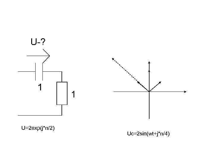 U=2 exp(j*п/2) Uc=2 sin(wt+j*п/4)