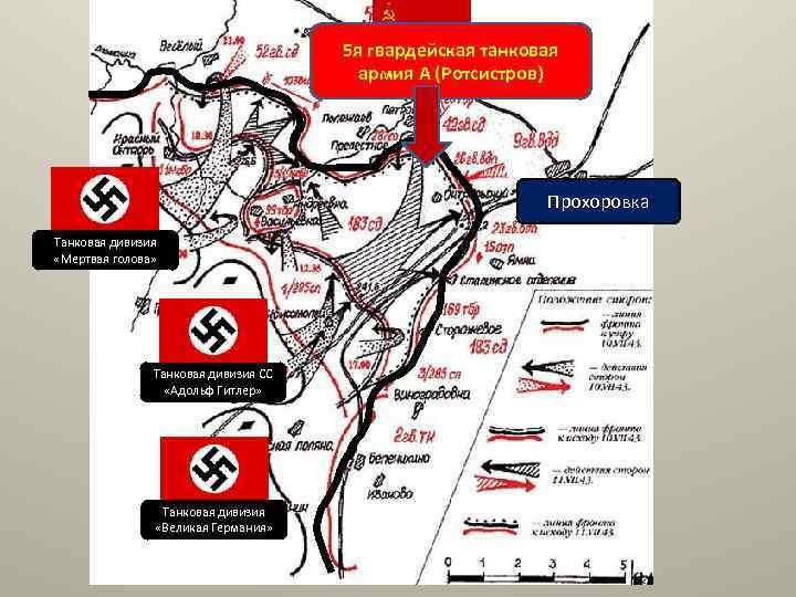 5 я гвардейская танковая армия А (Ротсистров) Прохоровка Танковая дивизия «Мертвая голова» Танковая дивизия