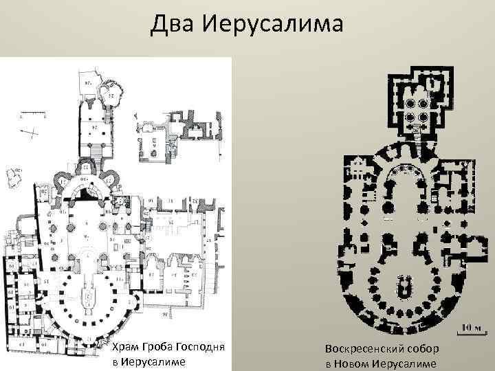 Два Иерусалима Храм Гроба Господня в Иерусалиме Воскресенский собор в Новом Иерусалиме