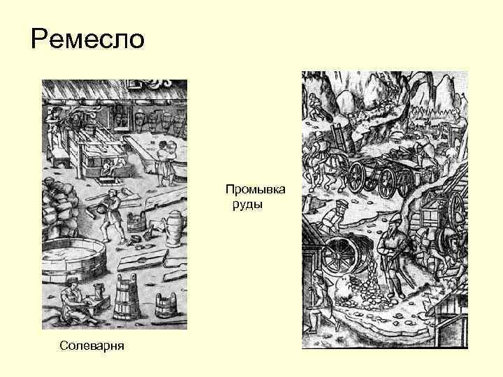 Ремесло Промывка руды Солеварня