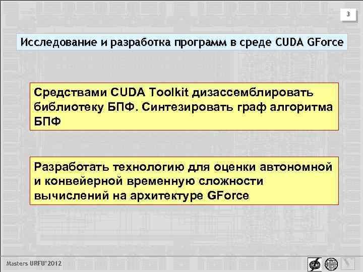 3 Исследование и разработка программ в среде CUDA GForce Средствами CUDA Toolkit дизассемблировать библиотеку