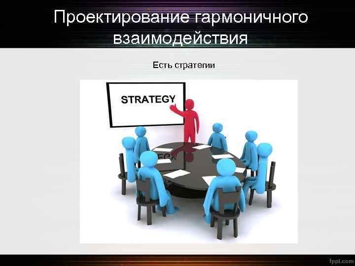 Проектирование гармоничного взаимодействия Есть стратегии