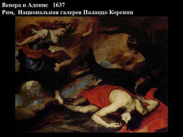 Венера и Адонис 1637 Рим, Национальная галерея Палаццо Корсини