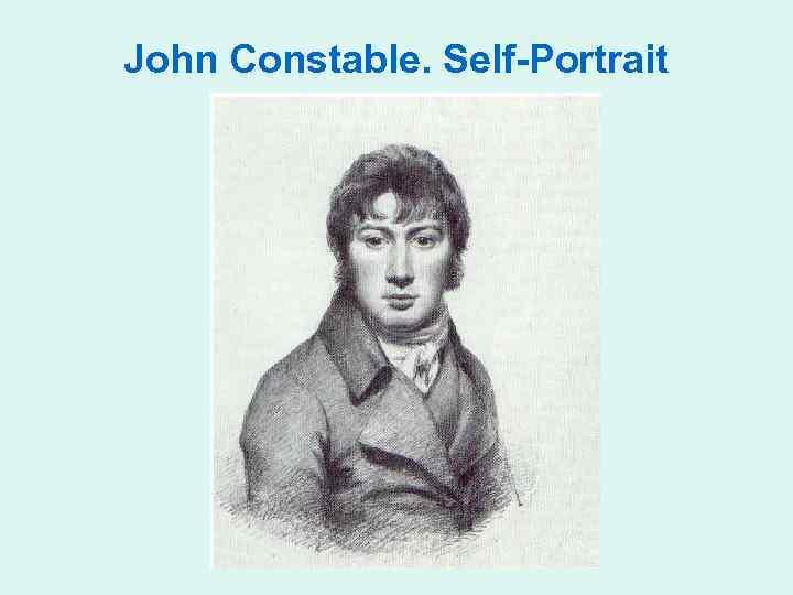 John Constable. Self-Portrait