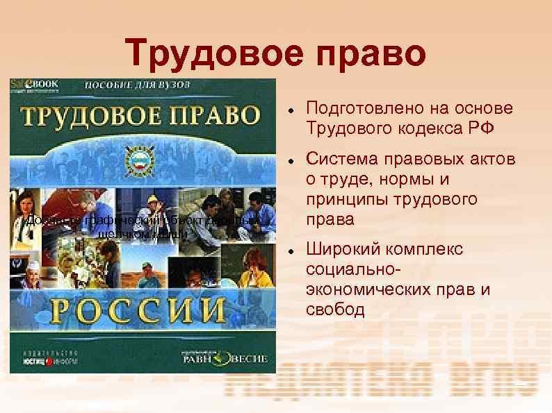 Трудовое право Добавьте графический объект двойным щелчком мыши Подготовлено на основе Трудового кодекса РФ