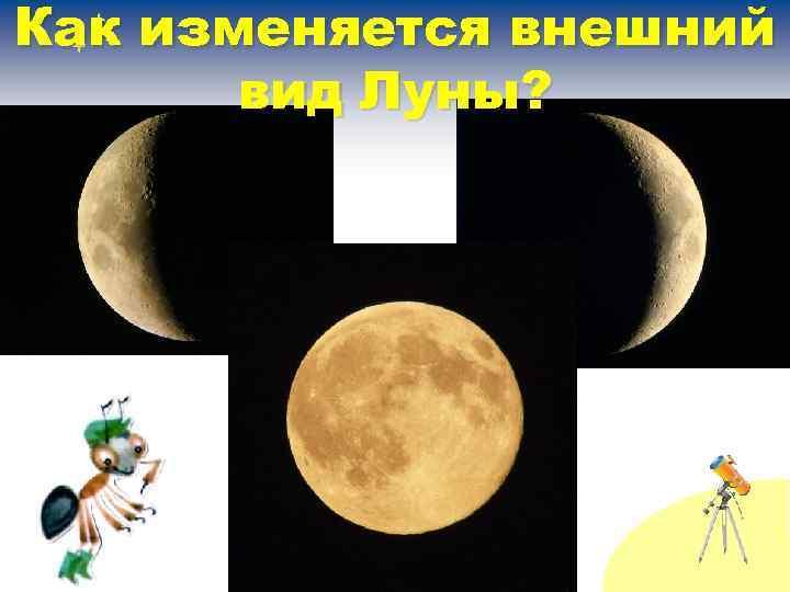Как изменяется внешний вид Луны?
