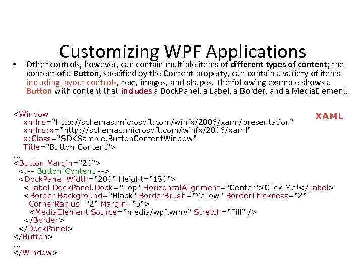 Windows Presentation Foundation WPF — What is