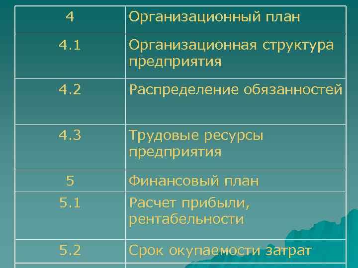 4 Организационный план 4. 1 Организационная структура предприятия 4. 2 Распределение обязанностей 4. 3