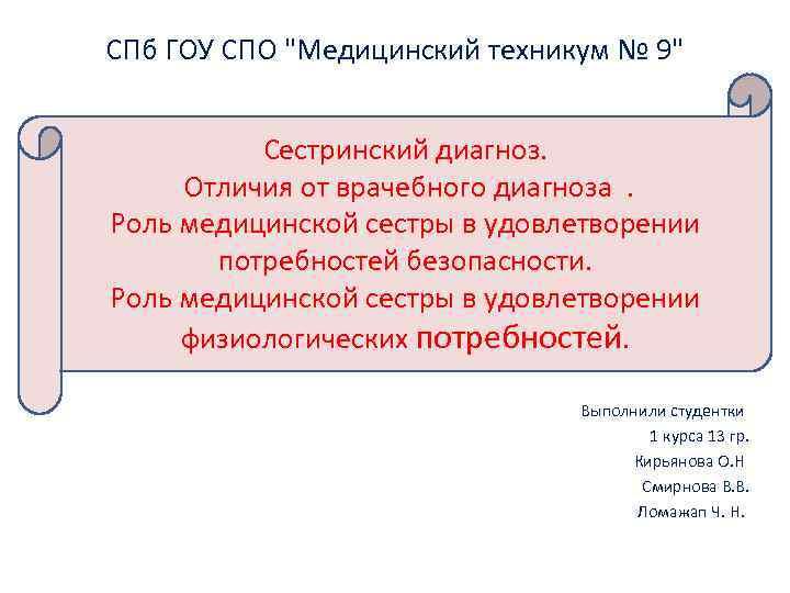 СПб ГОУ СПО