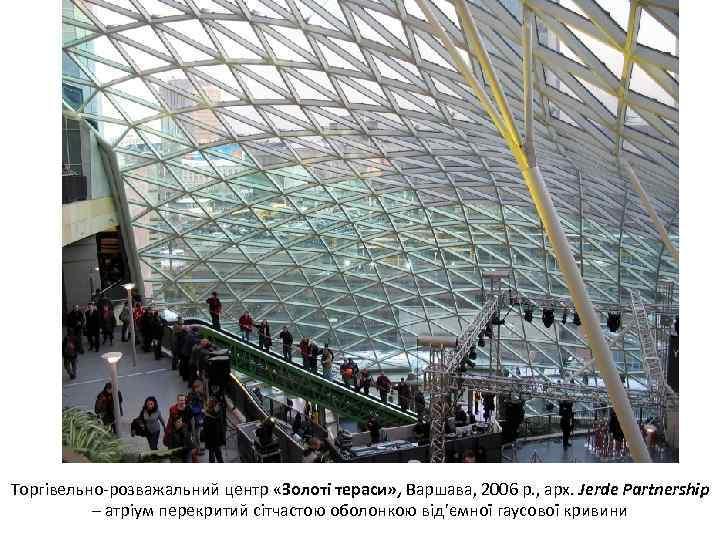 Торгівельно-розважальний центр «Золоті тераси» , Варшава, 2006 р. , арх. Jerde Partnership – атріум