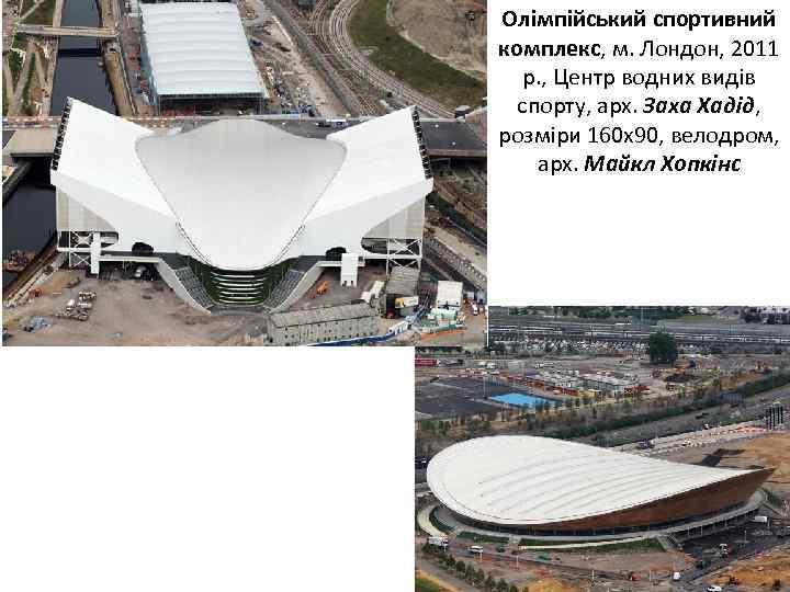 Олімпійський спортивний комплекс, м. Лондон, 2011 р. , Центр водних видів спорту, арх. Заха