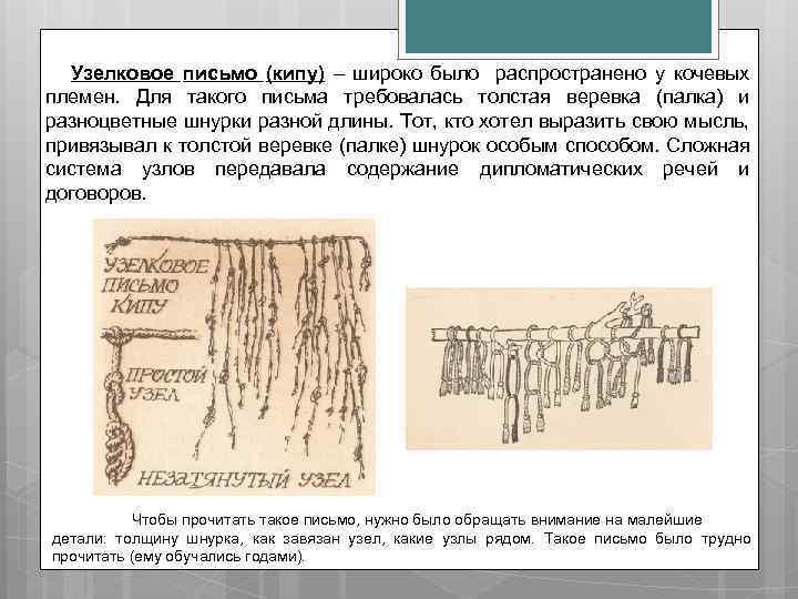 Картинки веревочного письма