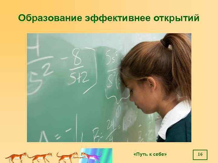 Образование эффективнее открытий «Путь к себе» 16