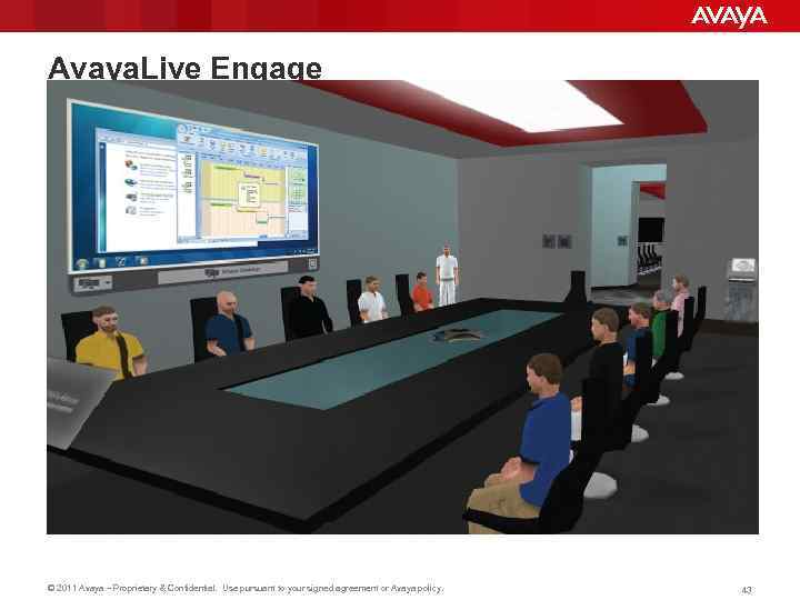 Avaya. Live Engage © 2011 Avaya – Proprietary & Confidential. Use pursuant to your