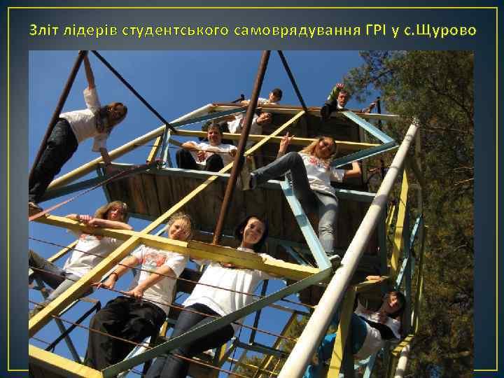 Зліт лідерів студентського самоврядування ГРІ у с. Щурово