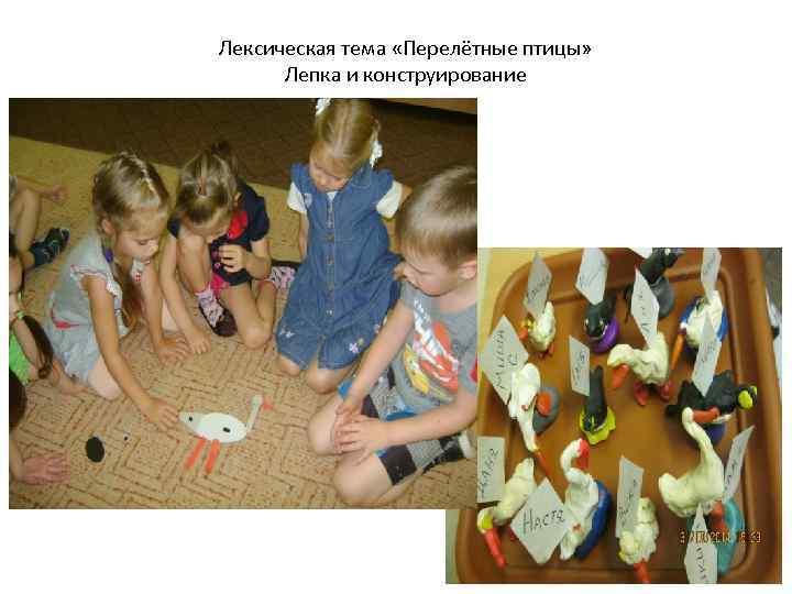 Лексическая тема «Перелётные птицы» Лепка и конструирование