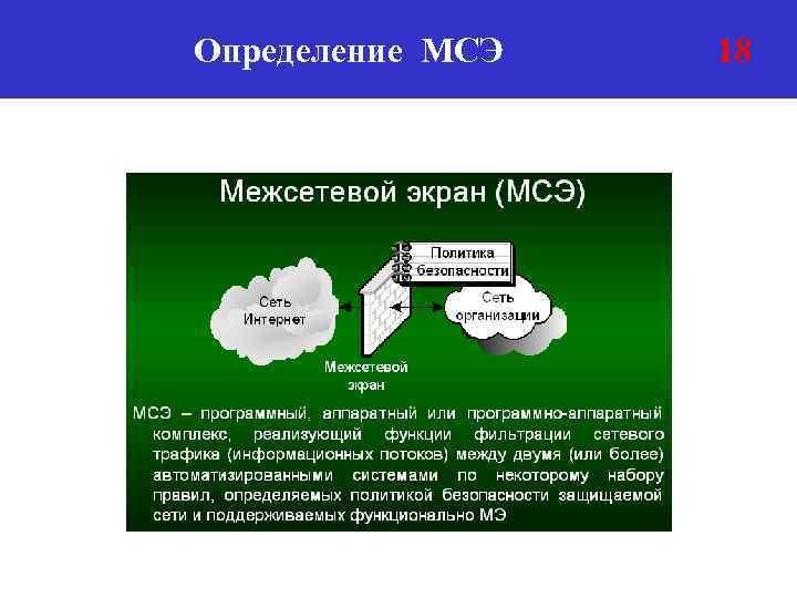 Определение МСЭ 18