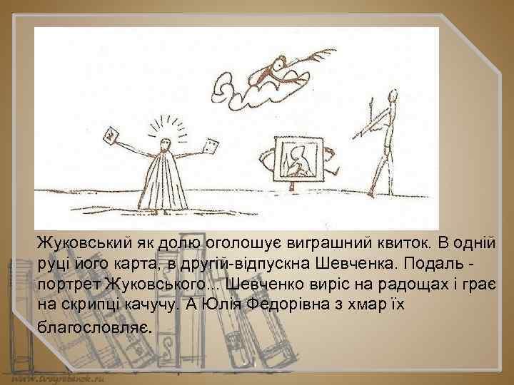 Жуковський як долю оголошує виграшний квиток. В одній руці його карта, в другій відпускна