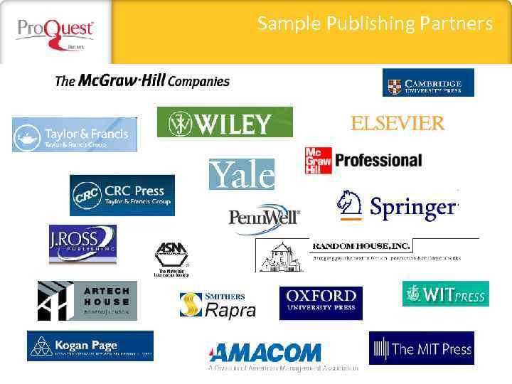 Sample Publishing Partners
