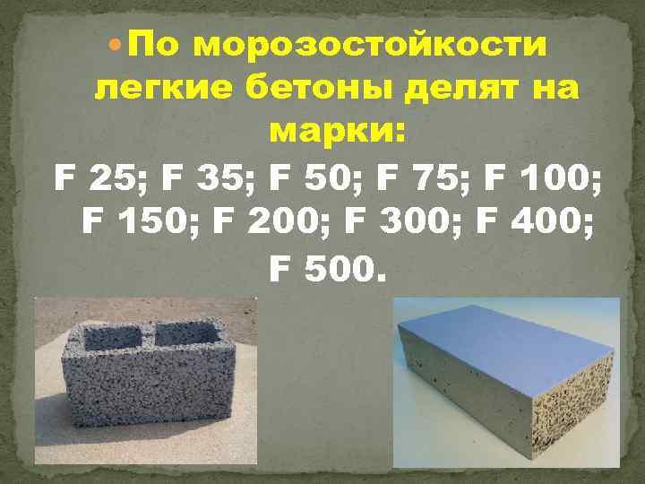 Легкие бетоны классификация нягань бетон