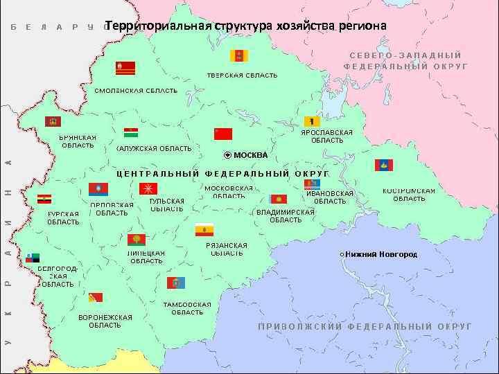 Территориальная структура хозяйства региона