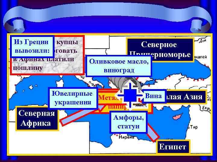 Чужеземные купцы Из Греции вывозили: за право торговать в Афинах платили пошлину Северное Причерноморье