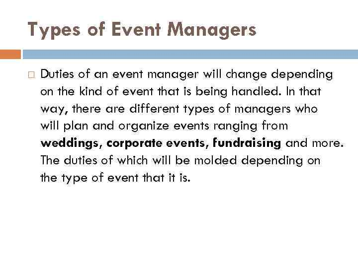 Event Manager Types Of Event Managers Duties - Type-of-corporate-events