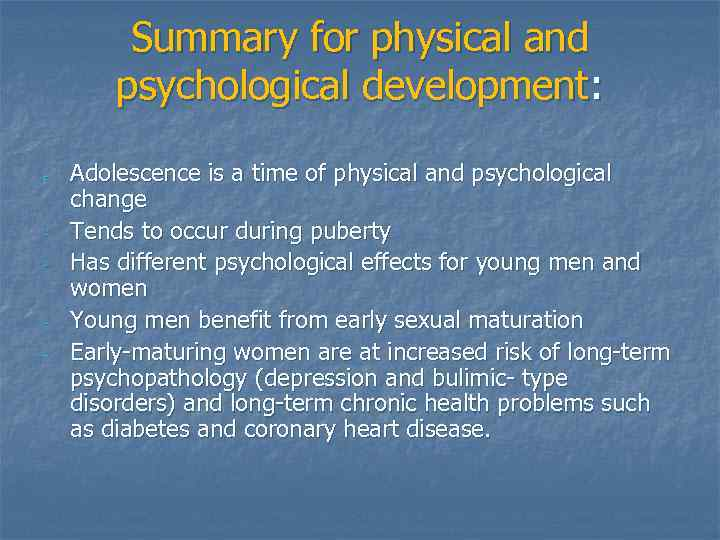 Psychological developments in young adults opinion you