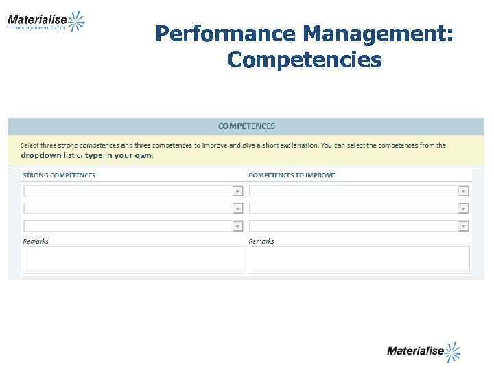 Performance Management: Competencies