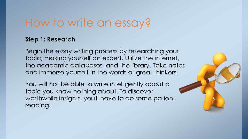 ways to begin an essay about yourself Even though the essay about you should be focused on your name and deeds, do not start writing with the trivial phrases introducing yourself it is still better to put an intriguing question which requires an answer in the end or begin with an interesting fact/quote/joke.