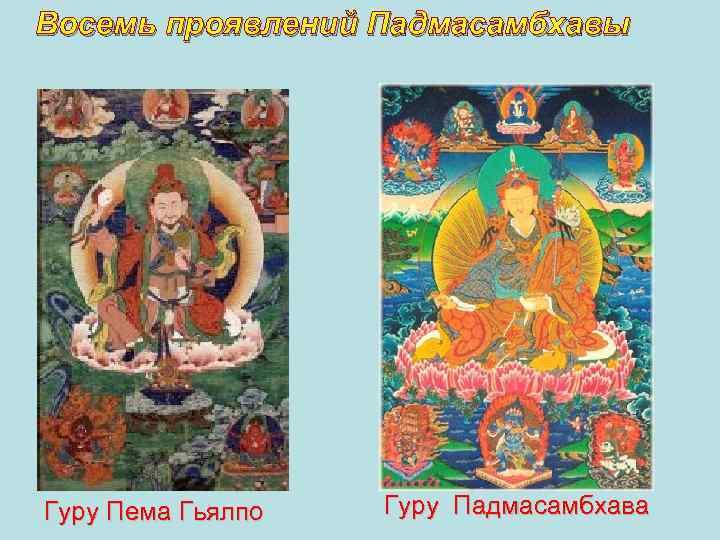 Восемь проявлений Падмасамбхавы Гуру Пема Гьялпо Гуру Падмасамбхава