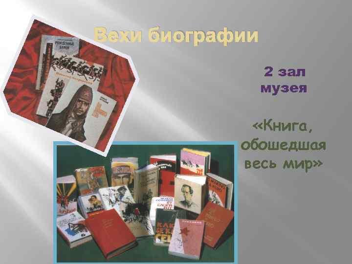 Вехи биографии 2 зал музея «Книга, обошедшая весь мир»