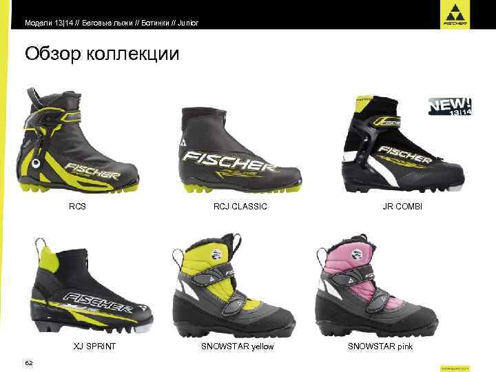 Модели 13|14 // Беговые лыжи // Ботинки // Junior Обзор коллекции RCS XJ SPRINT