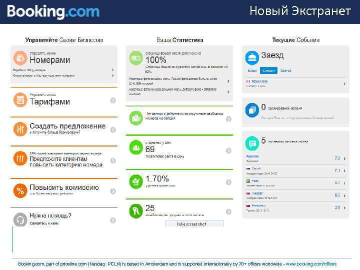 Extranet booking