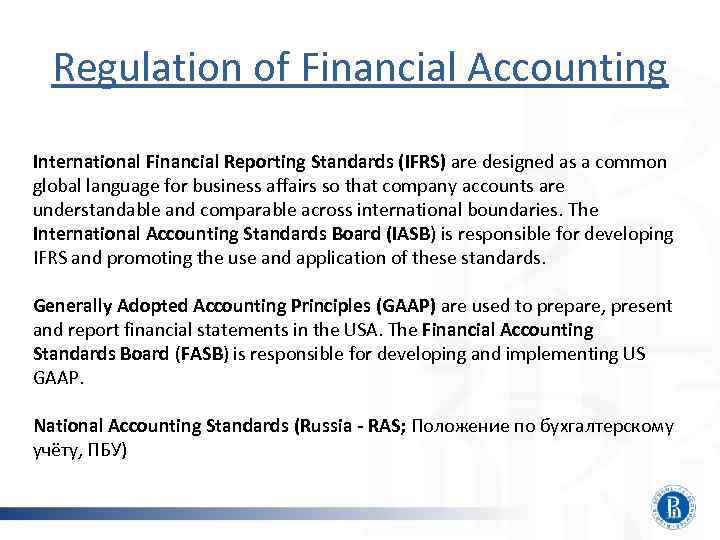 regulation standardising accounting practice Accounting standards board [iasb] 2009) are examples of the largely self-regulatory measures that have, historically, been integral to maintaining the legitimacy of the audit and accounting profession.