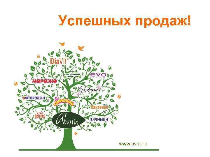 Успешных продаж! www. avnt. ru