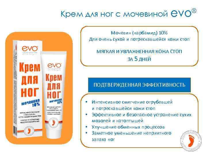 Крем для ног с мочевиной evo® Мочевин (карбамид) 10% Для очень сухой и потрескавшейся